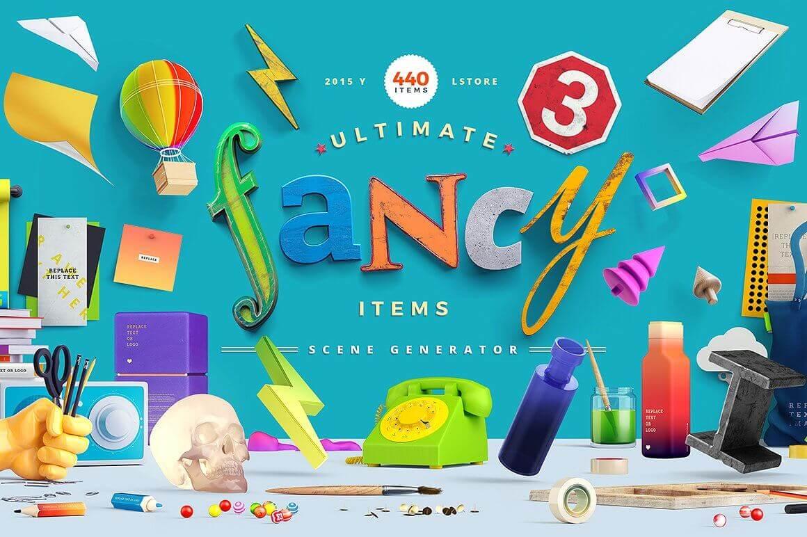Fancy Items Scene Generator (440+ Items) – only $15!