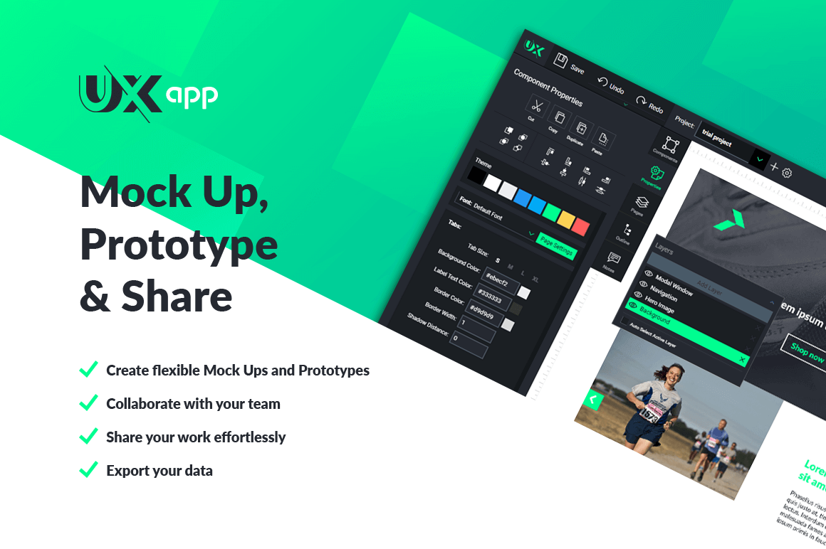 Quickly Build Fully Functional Web & Mobile Prototypes with UX-App – only $29