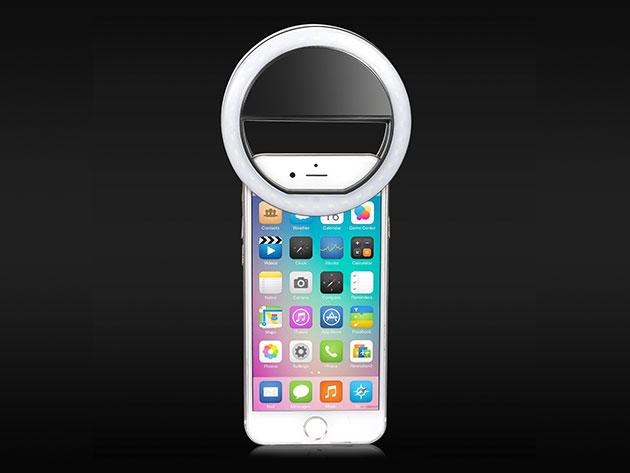 Clip On Smartphone LED Selfie Light for $10