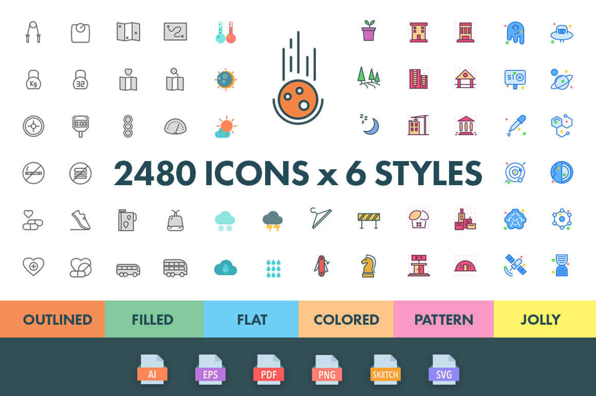 2,400+ Premium Quality Icons from Swifticons – only $29!