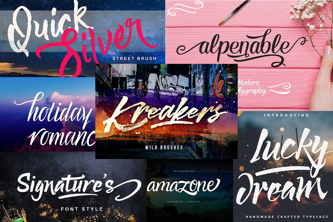 7 Fabulous Handmade Fonts – only $9!