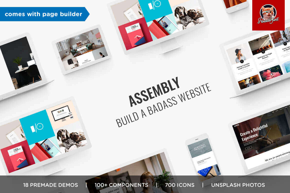 ASSEMBLY: A Robust Multipurpose Theme with Page Builder – only $9!