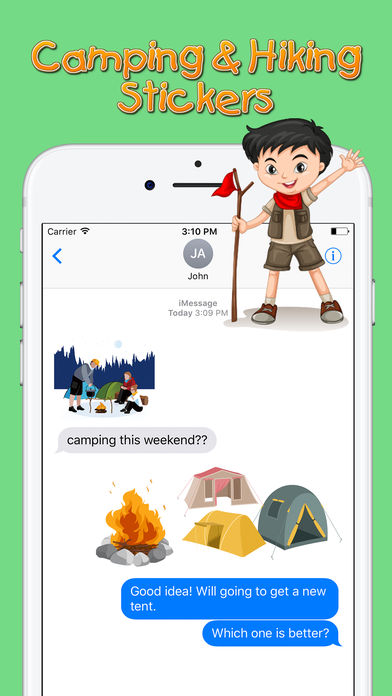 Camping and hiking stickers Overview 1