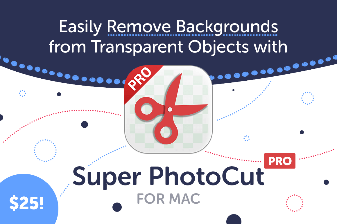 Easily Remove Backgrounds from Transparent Objects with Super PhotoCut Pro for Mac – only $25!