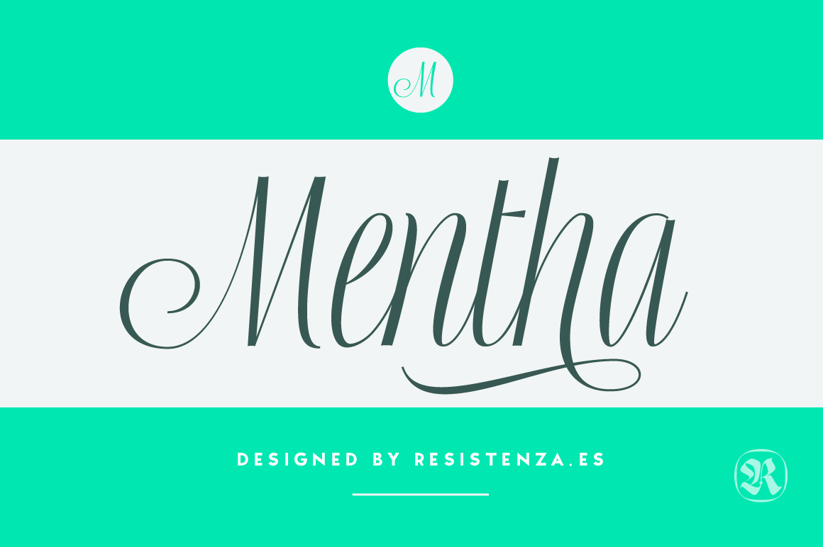 Flexible and Flowing Font: Mentha Script – only $9!