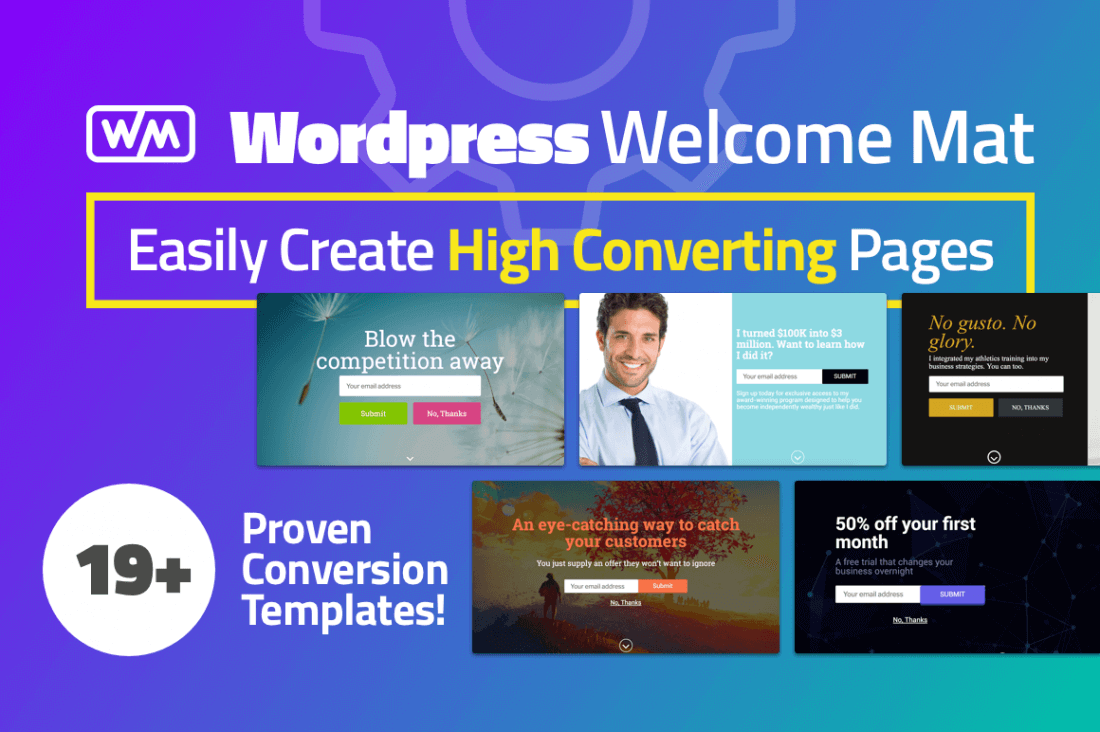 Increase Website Conversions with WordPress Welcome Mat - only $27!