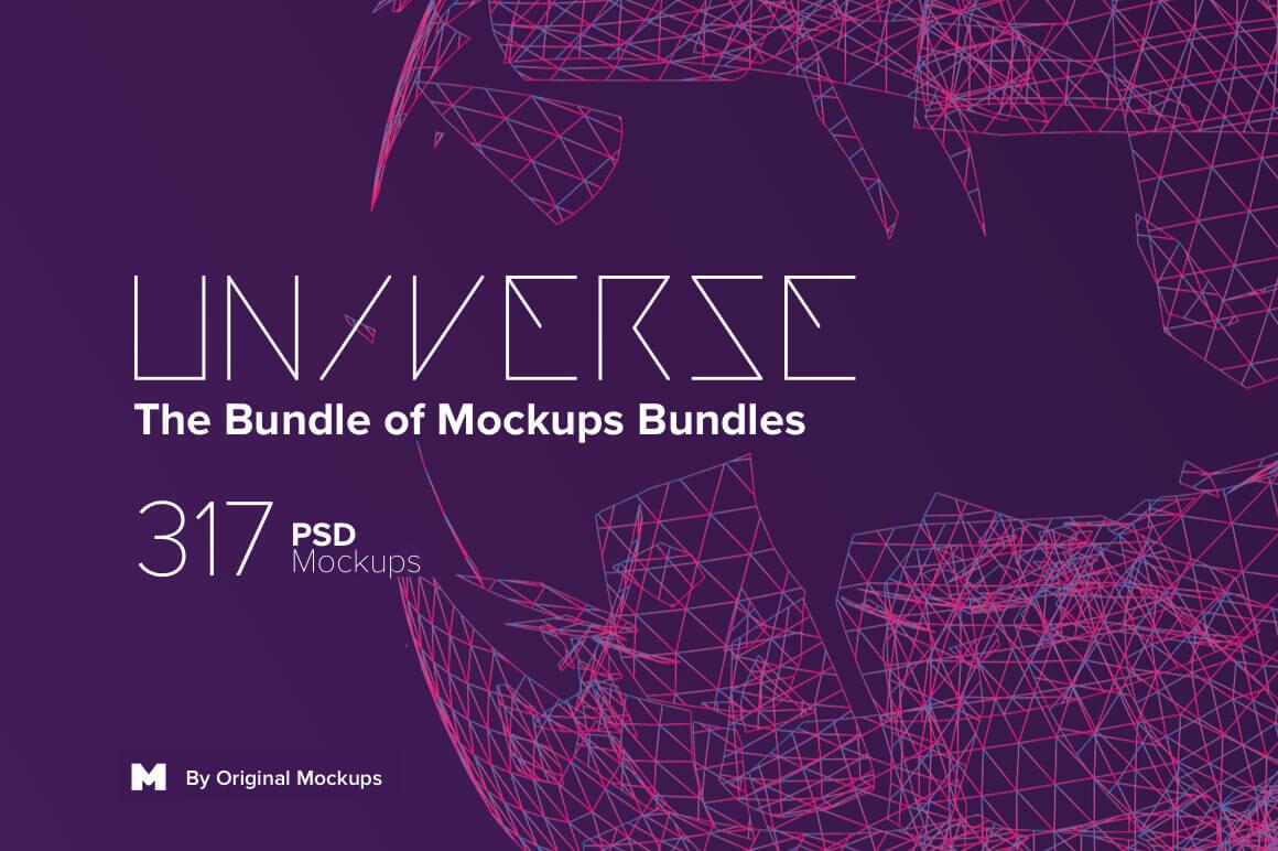 Universe Bundle – 300+ Premium PSD Mockups – only $29!