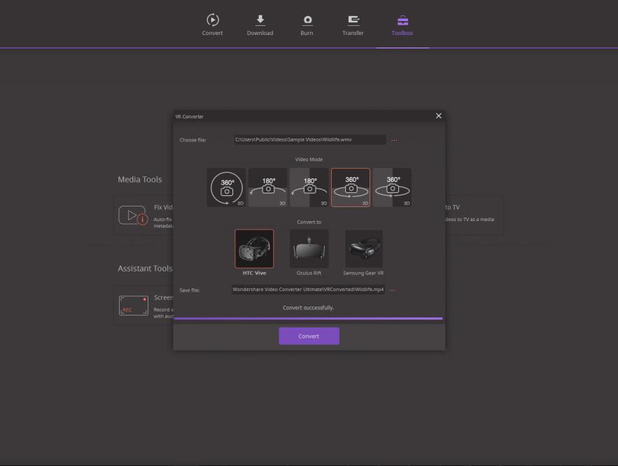 Video Converter - Media Tools VR