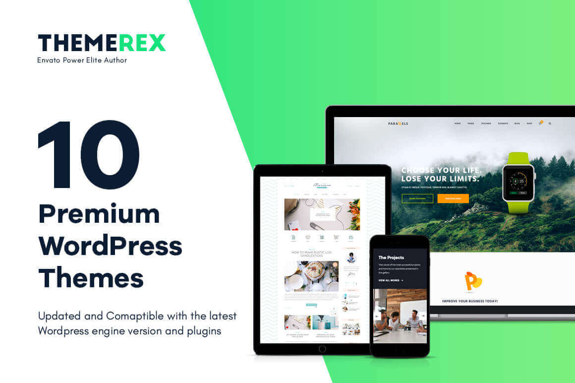 10 High-Quality, WordPress Premium Themes – only $38!