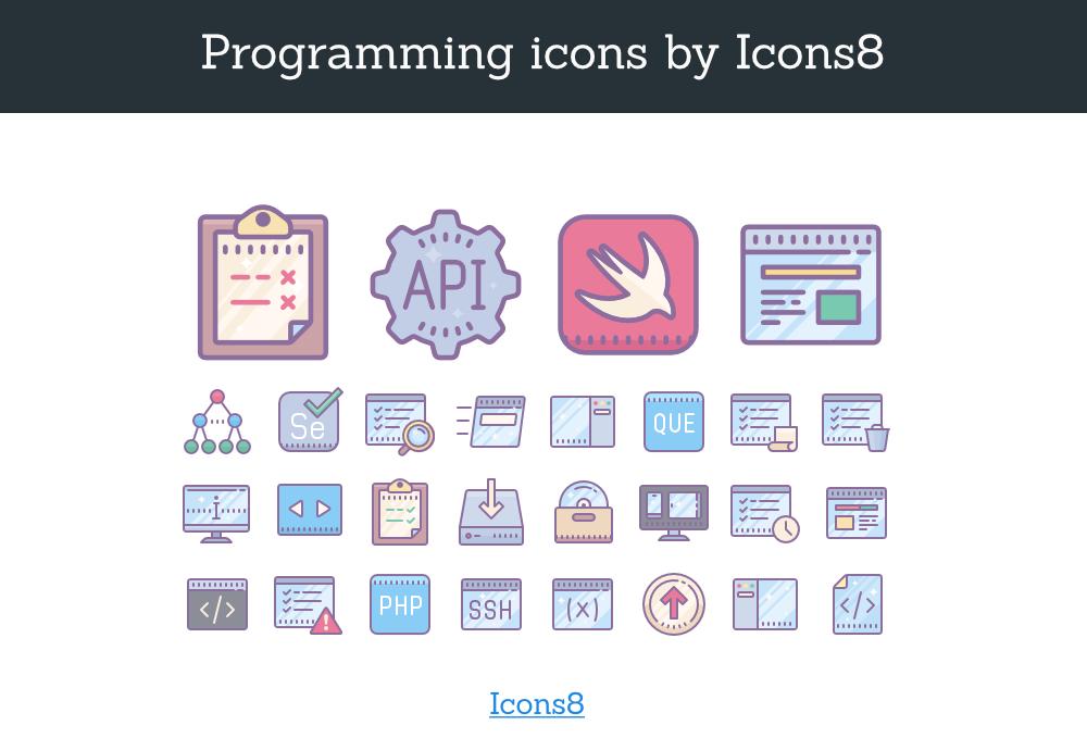 Freebie – 56 Programming Icons Bundle
