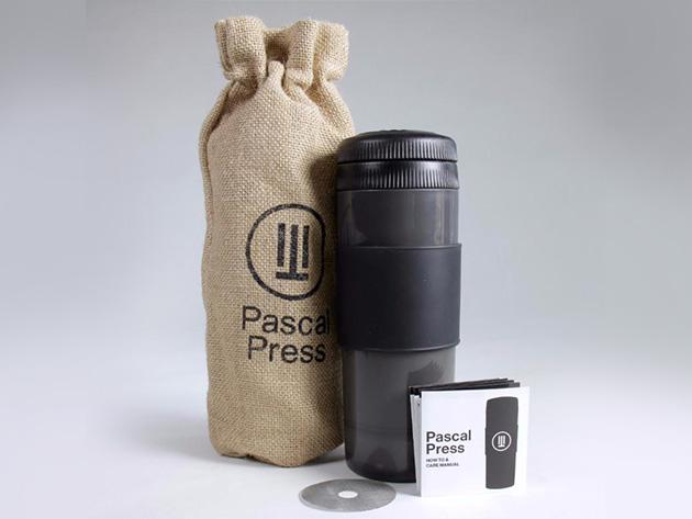Pascal Press Coffee Mug and Portable Brewer for $35