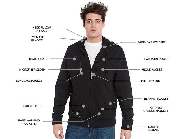 BauBax: The World's Best Travel Sweatshirt for Men (Black) for $109