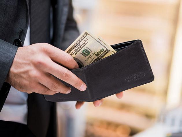 Big Skinny Leather Multi-Pocket Bi-Fold Wallet for $19