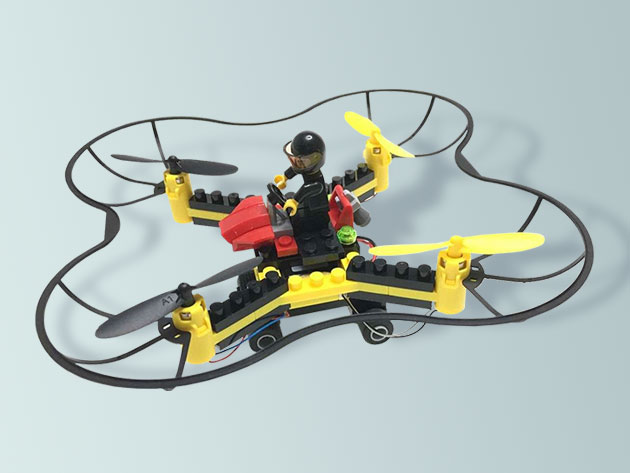 Force Flyers DIY Building Block Fly 'n Drive Drone for $32