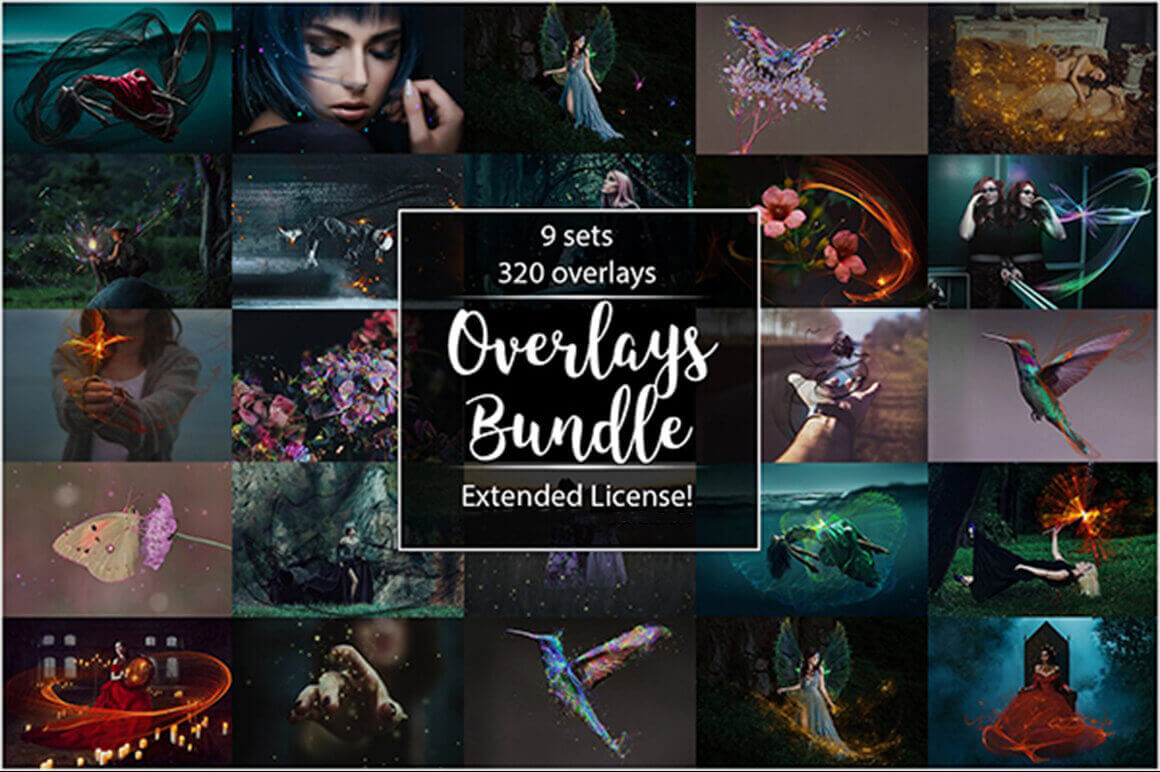 300+ Hi-Res, Fantasy Overlays with Transparent Backgrounds – only $14!