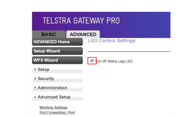 Business Legions - How to remove the annoying blue telstra led light - Turn off Teslstra Logo LED