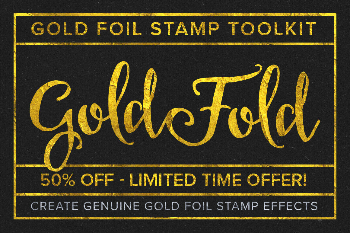 Create Gold Foil Effects with Gold Foil Stamp Toolkit – only $7!