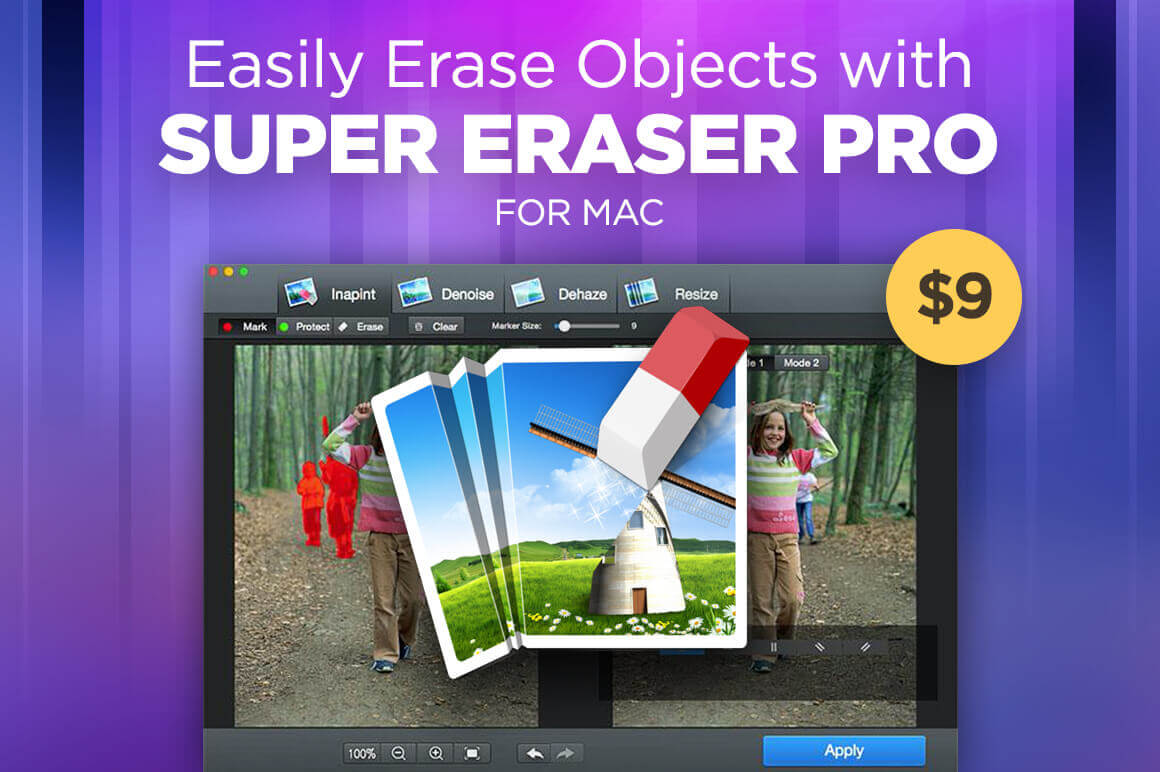 Easily Erase Objects with Super Eraser Pro for Mac – only $9!