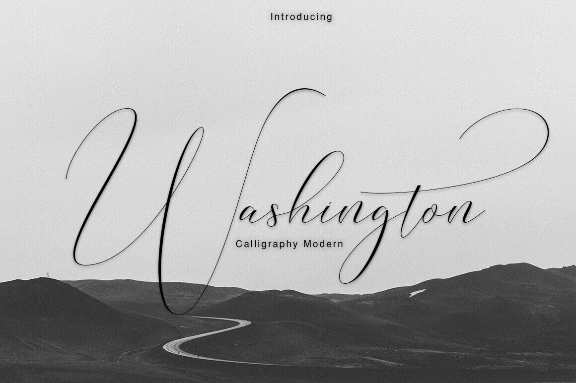 Professional Washington Calligraphy Modern with 450+ Glyphs - only $9!