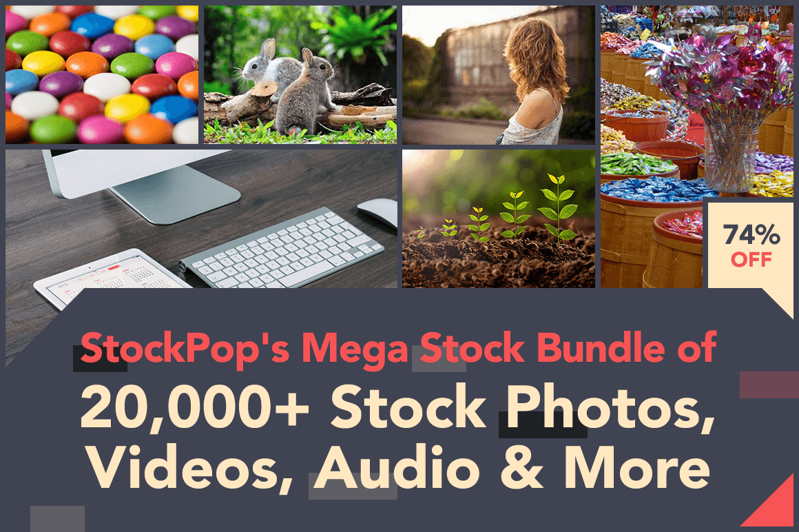 StockPop's Mega Stock Bundle of 20,000+ Stock Photos, Videos, Audio & More – 74% off!