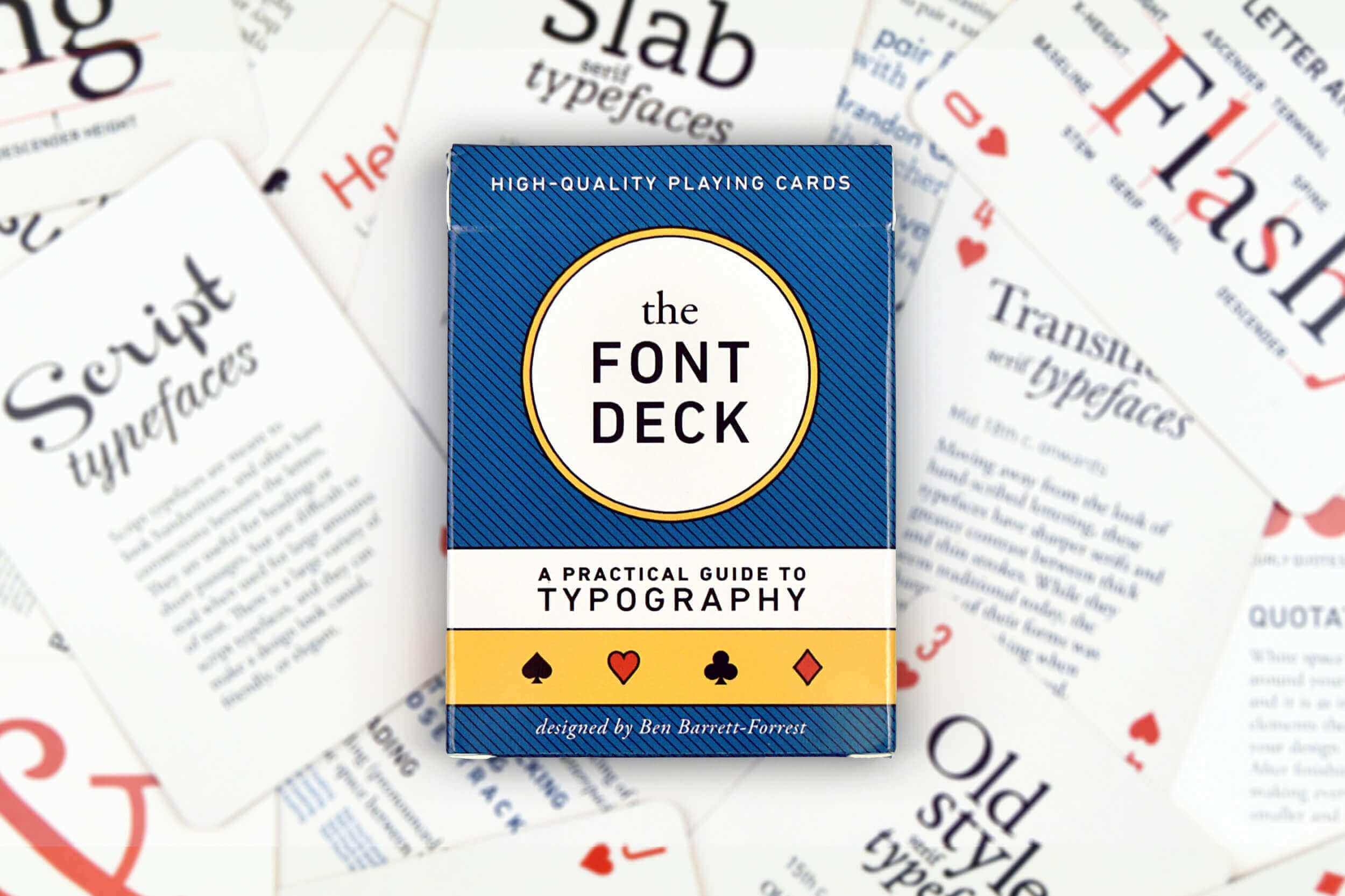 The Font Deck – Stylish Educational Playing Cards for Designers – only $15!