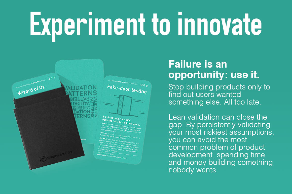Validation Patterns Card Deck Lets You Learn From Experimentation – only $39!