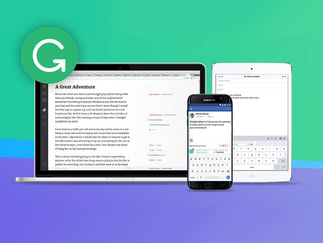 Grammarly Premium: 1-Yr Subscription for $69