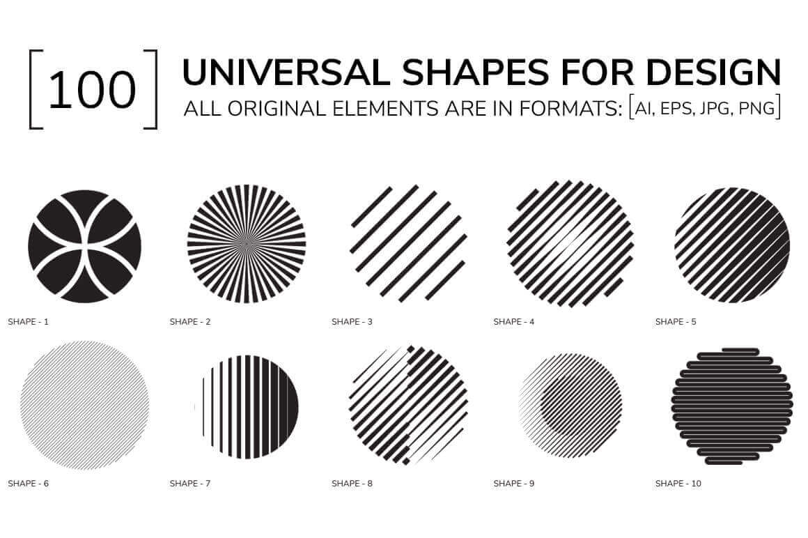 100 Universal Geometric Shapes – only $9!