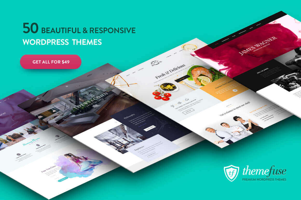 50+ Premium WordPress Themes from ThemeFuse - only $49!
