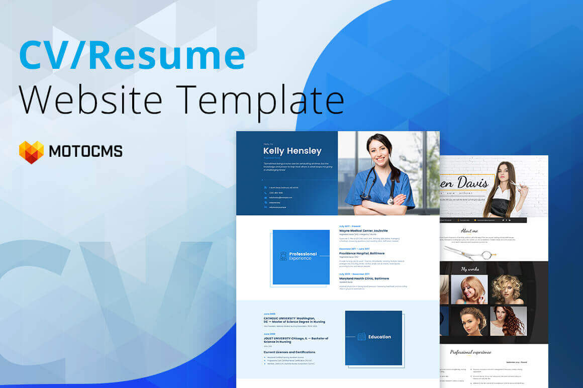 All-In-One Resume & CV Builder by MotoCMS – only $24!