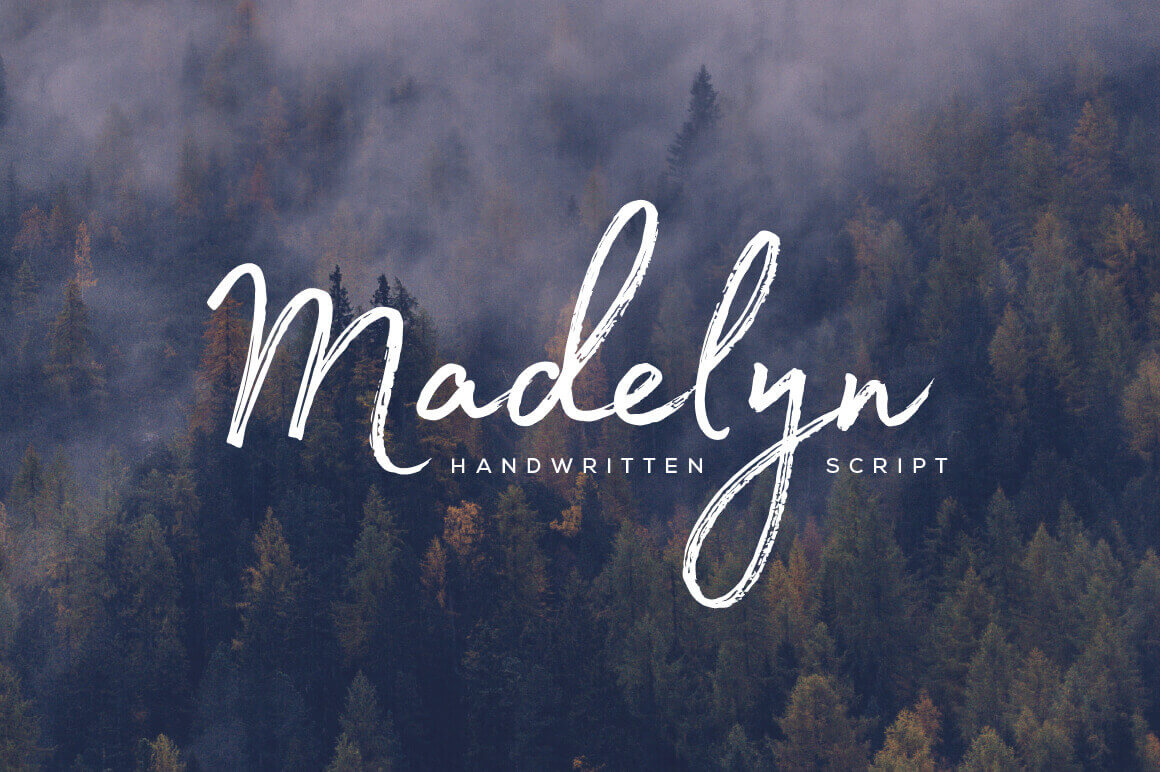 Beautiful Handwritten Madelyn Script Family – only $17!