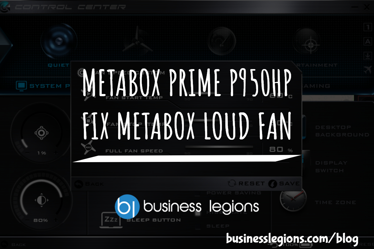 FIX METABOX LOUD FAN