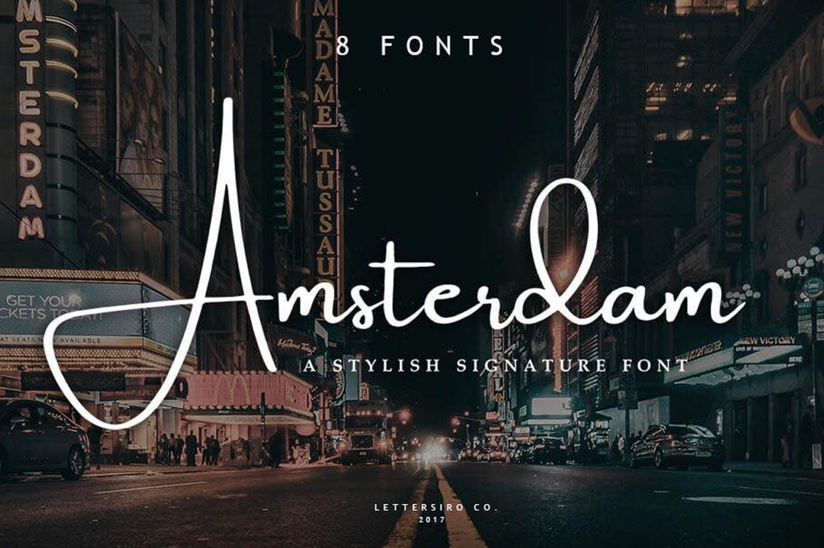 Elegant Amsterdam Font Collection – only $9!