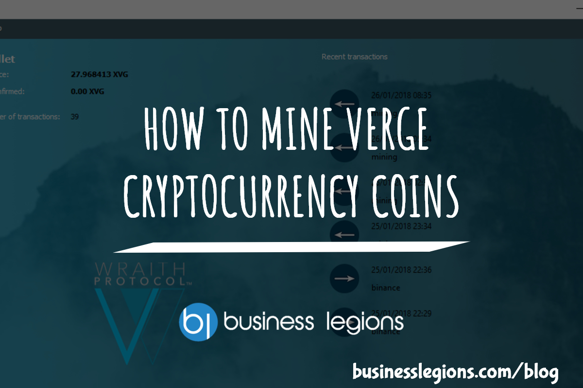 HOW TO MINE VERGE CRYPTOCURRENCY COINS