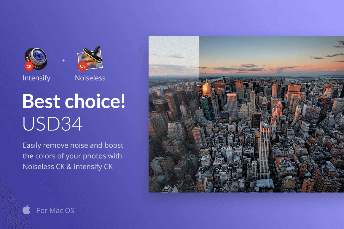 Mac Photo Enhancement Tool Bundle: Noiseless & Intensify – only $34!