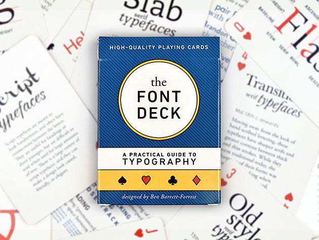 Design and Font Deck Playing Cards for $14