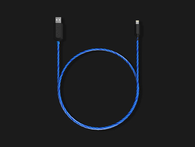 TAMO Charge-N-Glow MFi-Certified Lightning Cable for $18