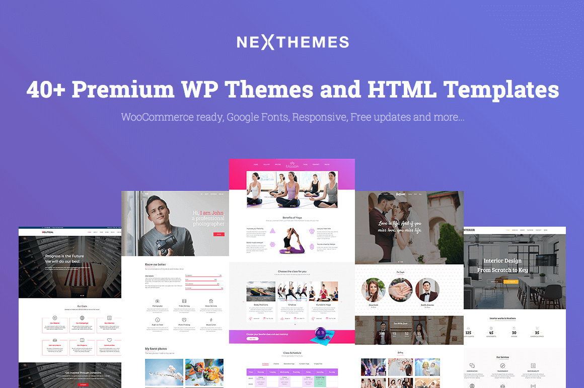 40+ Premium WordPress Themes & HTML Templates from NexThemes – only $39!