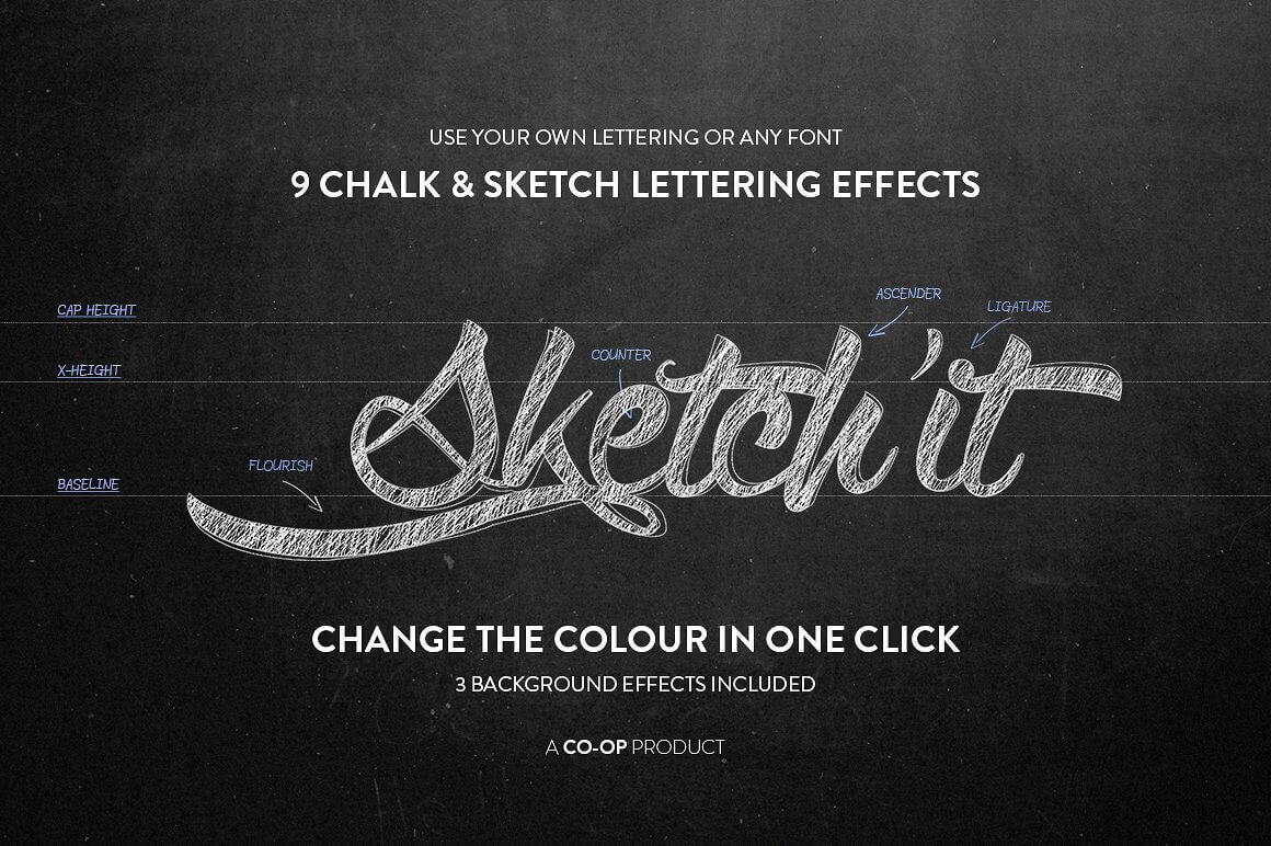 Add Realistic Chalk and Sketch Lettering Effects with Sketch'it – only $5!