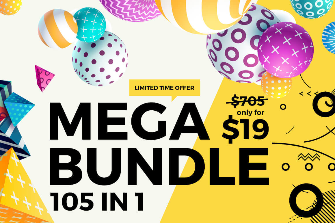 MEGA Bundle of Bundles – Includes 105 Design Products – only $19!