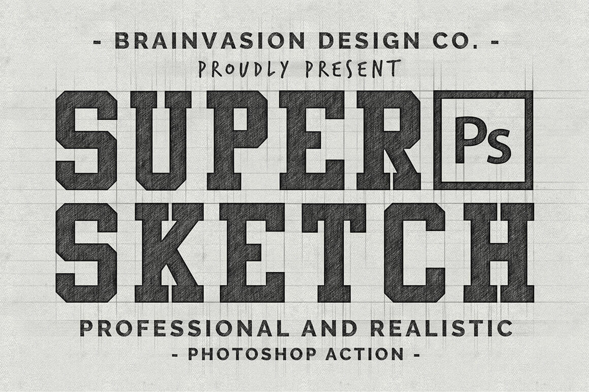 Quickly Transform Vectors or Text into Realistic Sketches with Super Sketch – only $9!