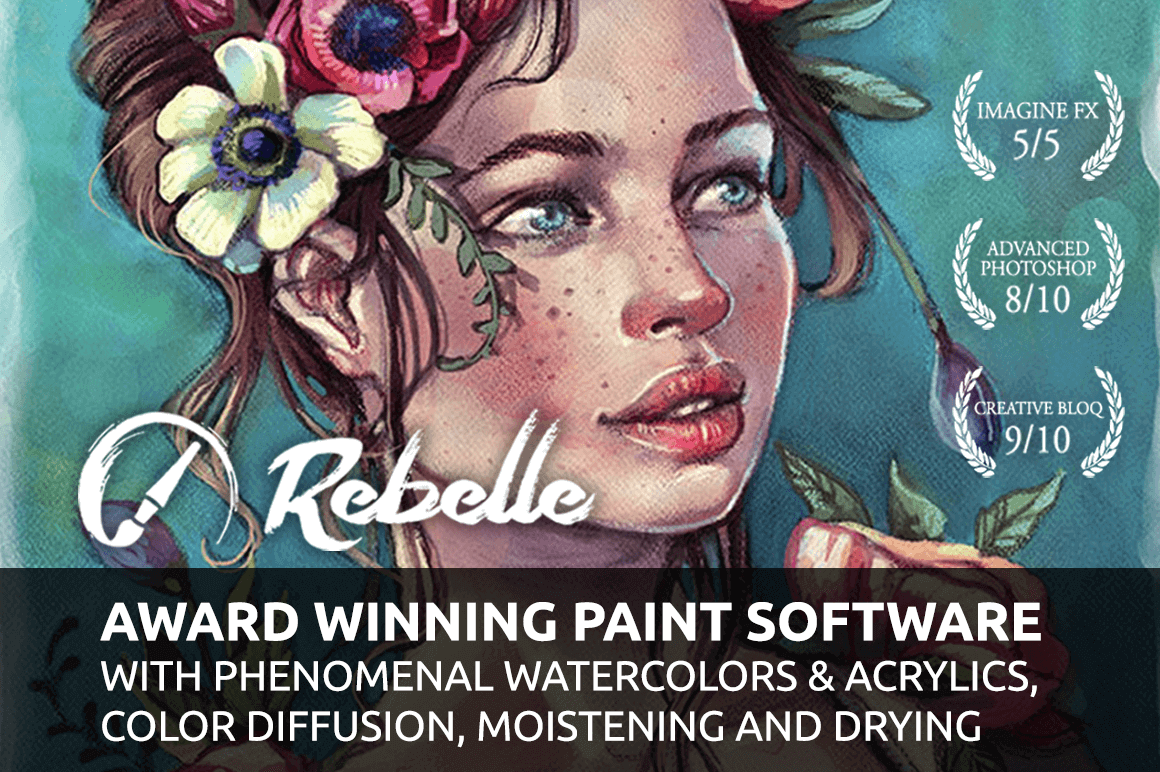 Rebelle 2 - Real-Media Watercolor and Acrylic Paint App - only $29!