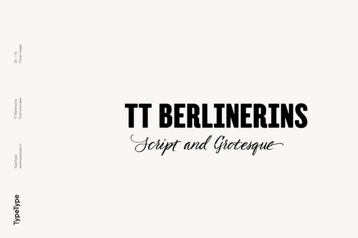 TT Berlinerins Modern Script & Old Grotesk – only $9!