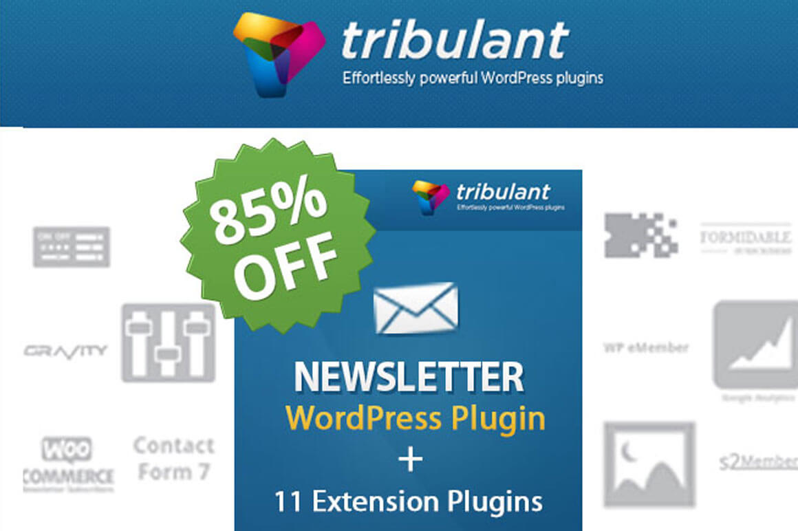 Tribulant's All-in-One Newsletter WordPress Plugin – $27!