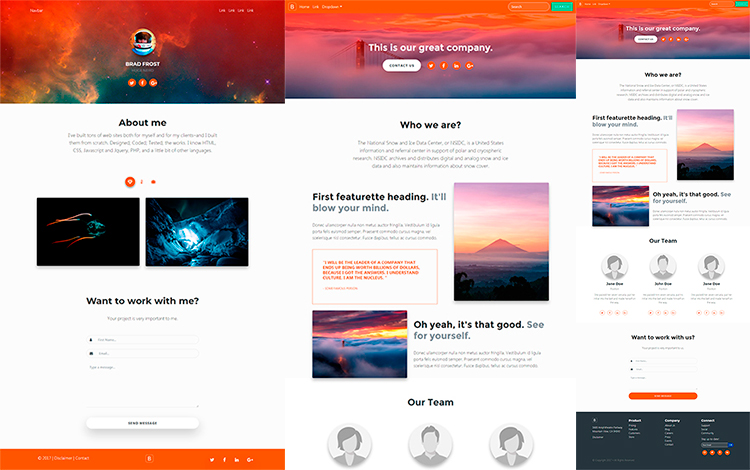 Create Responsive and Professional Websites With Bootstrap 4 Starter Kit PRO