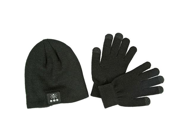 Bluetooth Beanie with Touchscreen Gloves for $19