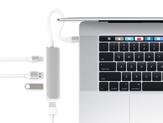HyperDrive USB-C Hub with 4K HDMI Support for $44