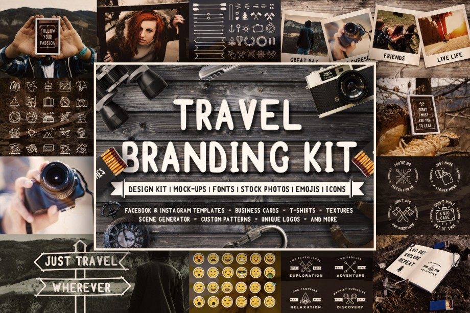 Create Travel Themed Designs With The Ultimate Travel Branding Kit