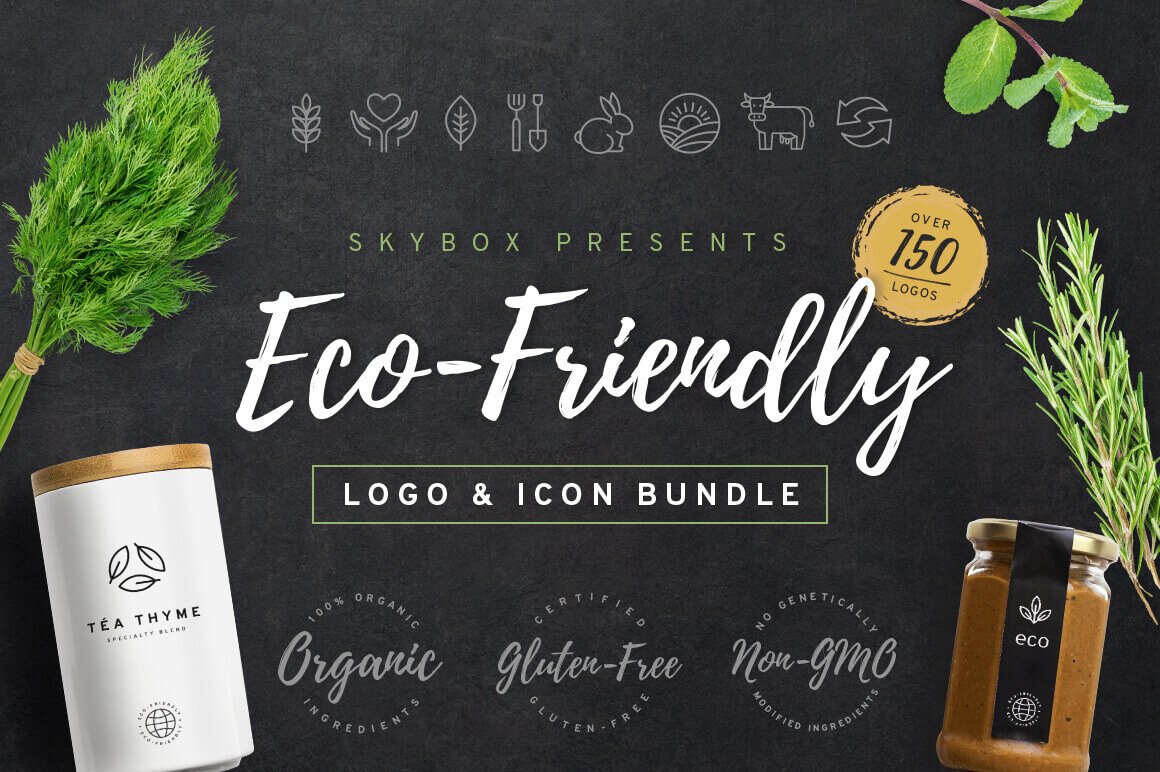 150+ Eco-Friendly Logos, Badges and Icons – only $9!