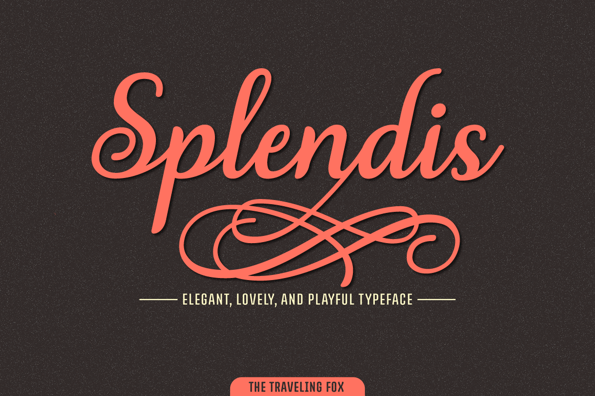 650+ Unique Characters in the Stunning Splendis Script Font – only $6!